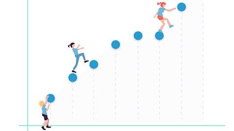 Illustration aider le client à grandir